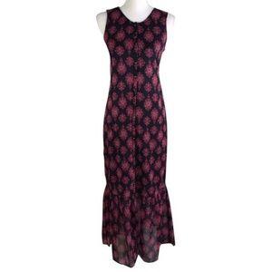Lucky Brand Sleeveless Button Boho Maxi Dress NWT